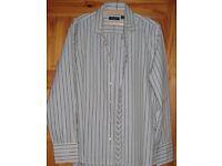 Kenneth Cole Striped Shirt 16 1/2; collar