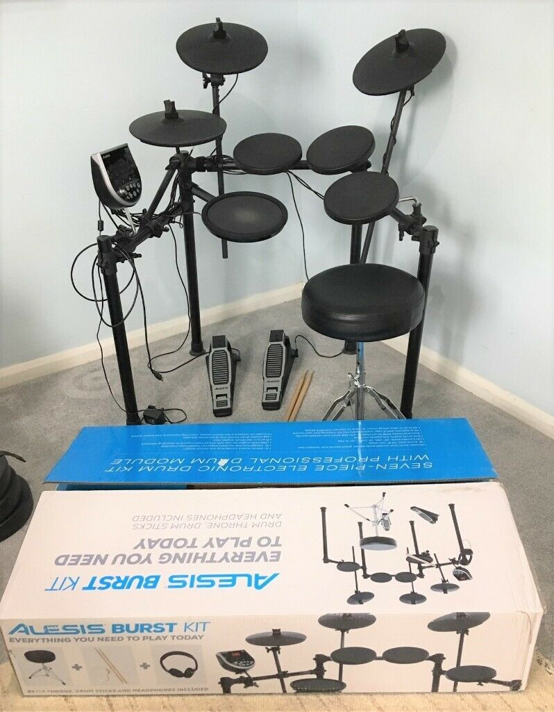 Electronic Digital Drums -Alesis BURST  7 piece & seat, boxed, manuals,  complete as new | in Earley, Berkshire | Gumtree