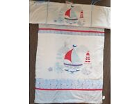 'Ahoy Matey' cot duvet and bumper set
