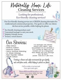 Eco friendly cleaning services domestic and commercial