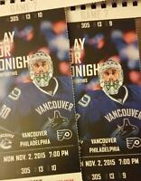 Vancouver Canucks vs Philadelphia Flyers