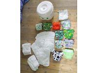Reusable nappy bundle including nappy bucket/liner
