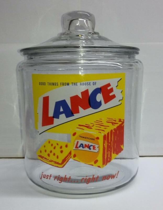 A Hard to Find Lance Crackers Glass Counter Jar