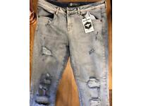 "BEE INSPIRED Mens jeans 36"" small"