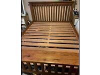 Robust Solid Oak king OR super king bed frame by Bensons for beds, can deliver!!