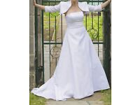 Stunning wedding dress, size 10-12, great price, cost much more, immaculate condition. £250