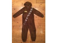 Age 11-12 Star Wars chewbacca fleece onesie