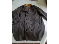 mens new grey coat marked XXL (Chinese size) but really a UK medium.