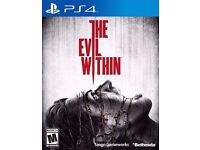 THE EVIL WITHIN for PS4 - New - £5