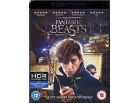 Fantastic Beasts and where to find them 4K Ultra HD Blu Ray (NEW)
