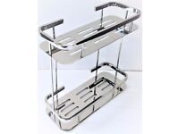 Bathroom Caddy Two Tier in Chrome (code 1002)