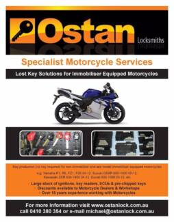 Motorcycle Key Coding Service, Lock Set, ECU-ECM Programming