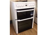 Beko WHITE 60cm Ceramic Top, Fan Assisted ELECTRIC COOKER + 3 Months Guarantee + FREE LOCAL DELIVERY