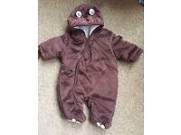 New Baby Brown Bear Snowsuit