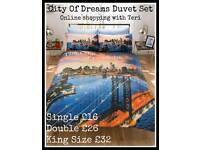City Of Dreams Duvet Set - Prices On Picture