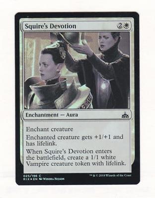 Magic: MTG: Rivals of Ixalan: Foil: Squire's Devotion