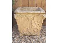 Large stone garden planters x 2