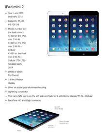 Like new iPad mini 2 with Herschel case 16gb