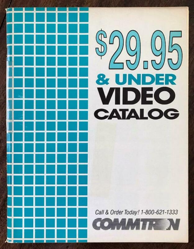 COMMTRON VHS Distributor Catalog 1986 Horror Sci Fi Action Cult Western Video