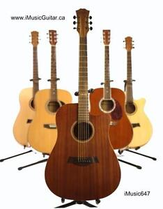 Free Capo and Strap with Acoustic Guitar for beginners 41 inch iMusic647