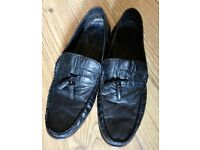 Men's next Black leather loafers size 11