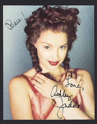 Ashley Judd 8x10 Fan Club Photo with reprint auto