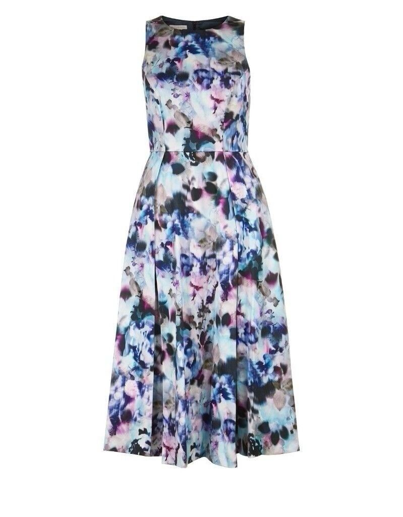 BNWT MONSOON ALEXA FLORAL MIDI DRESS PARTY OCCASION SIZE 12 RRP £109