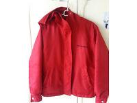 Ralph Lauren Red Raincoat Size M