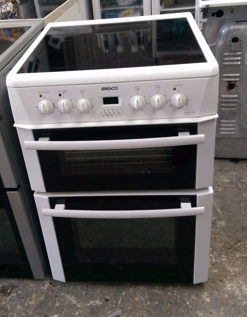 6 MONTHS WARRANTY Beko DVC665 60cm, double oven electric cooker FREE DELIVERY