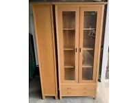 Oak Display Cabinet in excellent condition