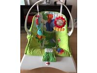Fisher Price bouncer with vibrate feature!