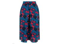 NEW - Monsoon Estella Red Blue Floral Printed A-Line Skirt size 12 New with secured tags