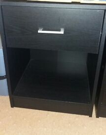 black ash bedroom furniture very good condition. sold as a set.