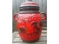 Vintage Red West German Scheurich Ceramic Storage Rumtopf Rum Pot 820-28