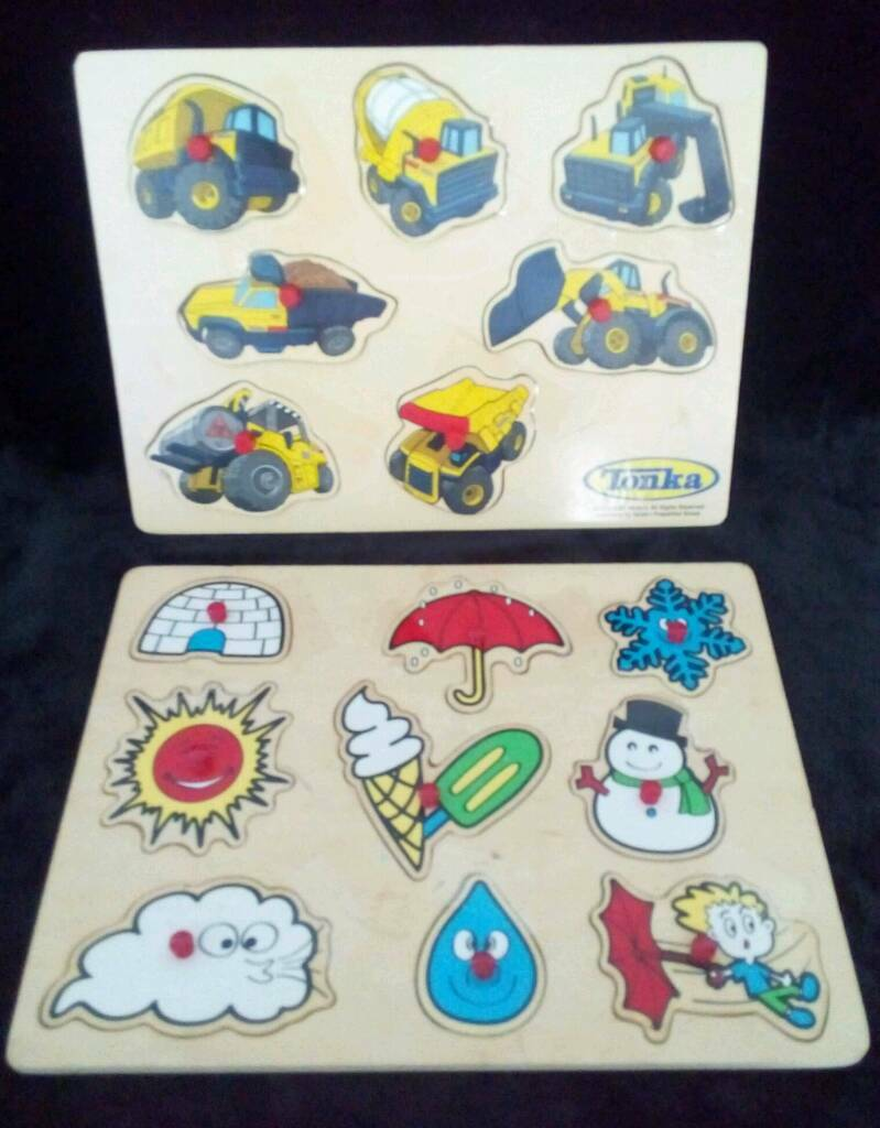 2 Kids Wooden Puzzles.