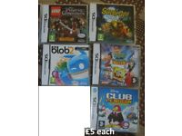 Nintendo ds games £5 each from a smoke and pet free home collection from didcot