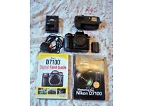 Nikon D7100 Camera Body and Grip for sale