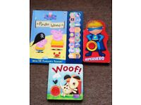 Bundle of Kids Noisy / Sound Books - Peppa Pig, Superhero, Woof