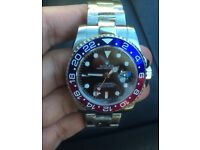 New rolex pepsi gmt red and blue watch