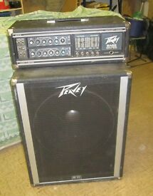 Vintage PEAVEY bass amp mark III series 400B 1978 - and SPEAKER