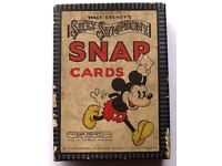 Walt Disney 'Silly Symphony' Snap Playing Cards CASH ON COLLECTION ONLY