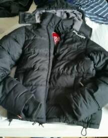 Superdry 07 Coat Large Mens L Bomber Puffer Jacket