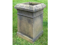 Reclaimed Victorian chimney pot, white rectangular