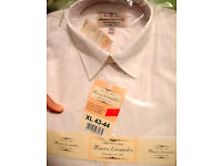 (x2) White formal type shirts, new, size: XL