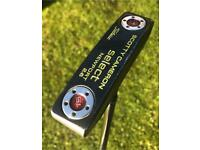 """Scotty Cameron Newport 2.6 Centre Shafted putter 34"""" lime green custom finish & HC"""