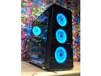 🖥 Ultimate Gaming PC 🖥 Intel i7 4770K - 16GB - 240GB SSD - 2TB - 8GB GTX 1080 - RGB Case - Win 10