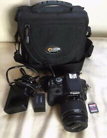 Canon EOS100D DSLR and 18-55mm IS STM Lens + lots of extras!
