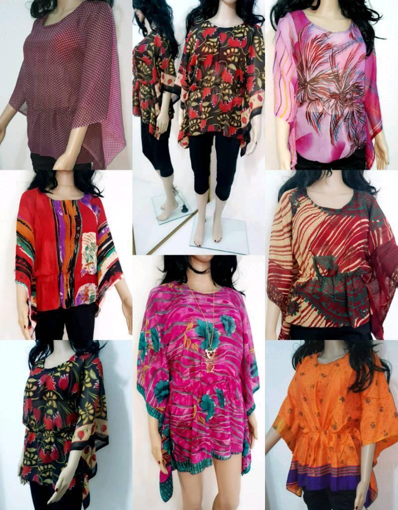 ed36ff2d1e6c9 Batwing Waterfall Poncho Kimono Tunic kurta Tops kaftan JOBLOT At Wholesale  reduced price