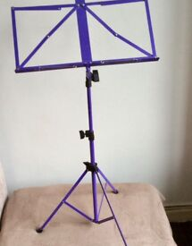 Purple music stand - with carry case - excellent condition