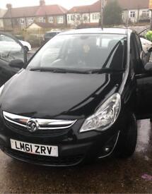 2012 Vauxhall CORSA BLACK 5dr